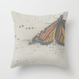 DREAMY MONARCH Throw Pillow