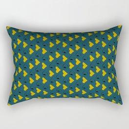 Yellow Lips Rectangular Pillow