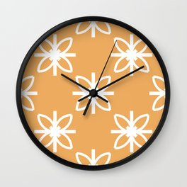 Seamless Abstract Modern Pattern Created from Repetitive ellipses and lines Wall Clock