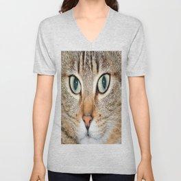 cat eyes Unisex V-Neck