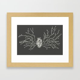 Anatomical Botanical Heart Framed Art Print
