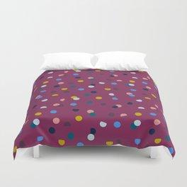 Purple Confetti Spot Duvet Cover