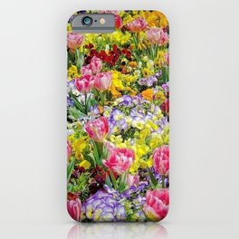 A Springtime for Tulips, Still Life Painting iPhone Case