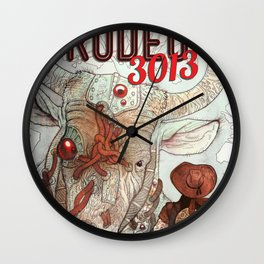 Cyber Rodeo 1 Wall Clock
