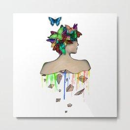 Metamorphosis Girl Metal Print
