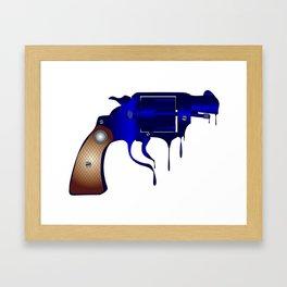 Melting Gun Framed Art Print