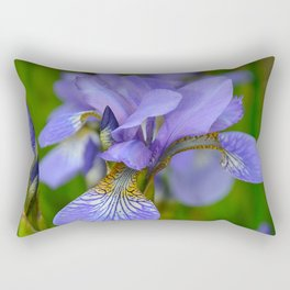 Siberian Iris by Teresa Thompson Rectangular Pillow