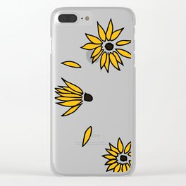 Falling Yellow Flowers Clear iPhone Case