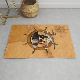 Jolly Roger Pirate Wheel Rug