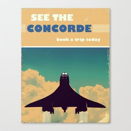 See the concorde vintage poster. Canvas Print