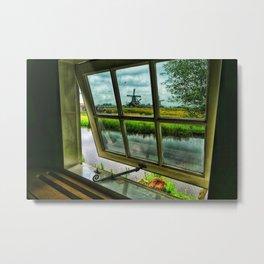 View through a window Metal Print