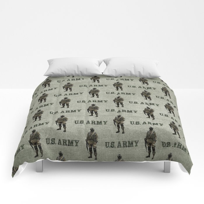 US Army Green Soldier Comforters