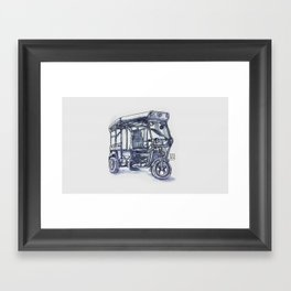 vietnam 3 wheelers Framed Art Print