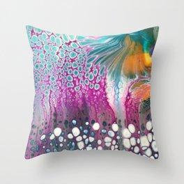 Teal Garden Throw Pillow