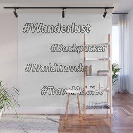 Travel Hashtags Wall Mural