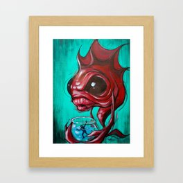 Fish Bowled Framed Art Print