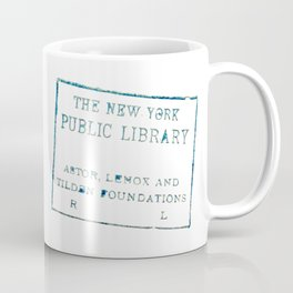 New York Public Library stamp Coffee Mug