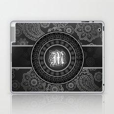 Monogrammed Aridi M Black and White Laptop & iPad Skin