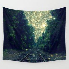 Dreamy Train Tracks Wall Tapestry