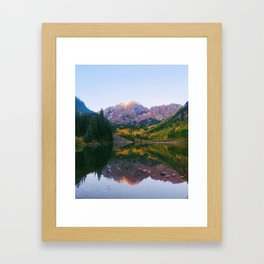 Sunrise at Maroon Bells Framed Art Print