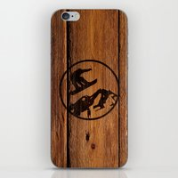 snowboarding iPhone & iPod Skins featuring snowboarding 1 by Paul Simms