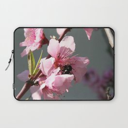 Unidentified Winged Insect On Peach Tree Blossom Laptop Sleeve