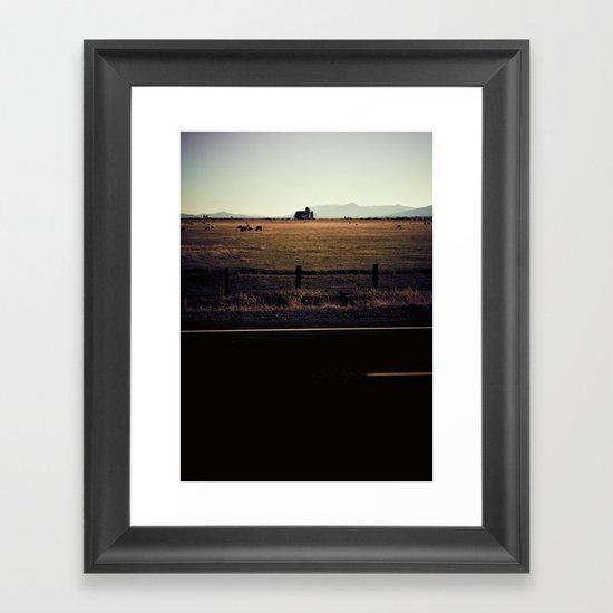 BACK AND SPINE. Framed Art Print