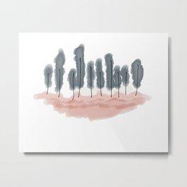 Pretty Fluffy Trees  Metal Print