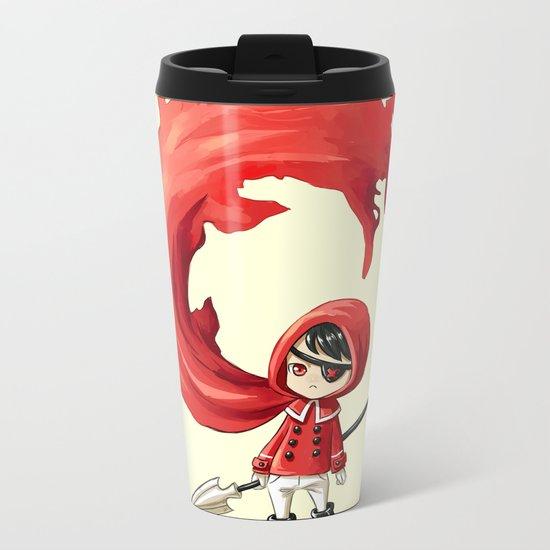 Red Cape Metal Travel Mug