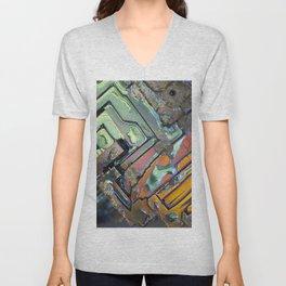 Colorful Geometric Shapes Unisex V-Neck