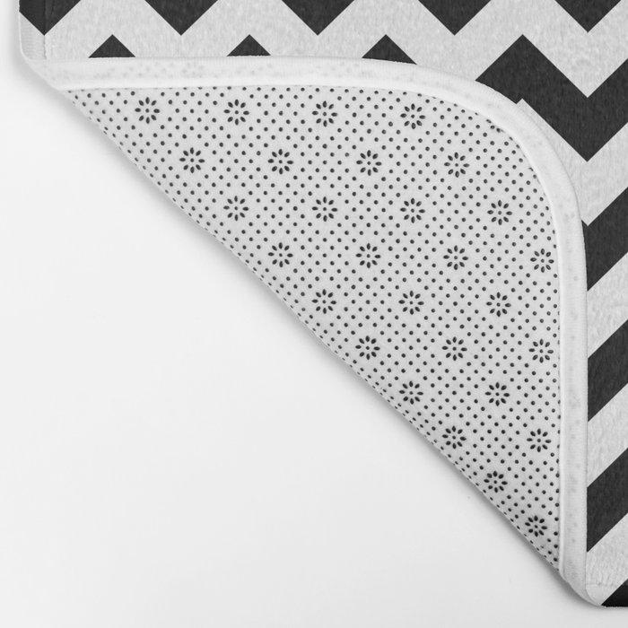 Chevron (Black/White) Bath Mat