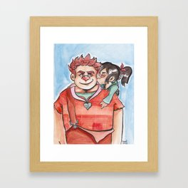 You're My #1 Hero Framed Art Print