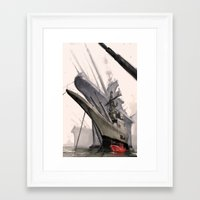 ships Framed Art Prints featuring ships by Nathanaël Ferdinand
