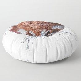Red Panda Face Mammal Minor Version Sprouting Hair Floor Pillow