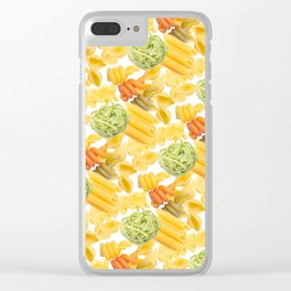 Pasta Pattern Clear iPhone Case