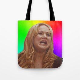 Jennifer Lawrence Rainbow Derp Tote Bag
