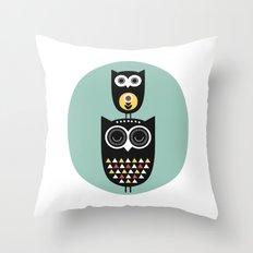 Owl décor - modern nursery art - geometric pattern Throw Pillow
