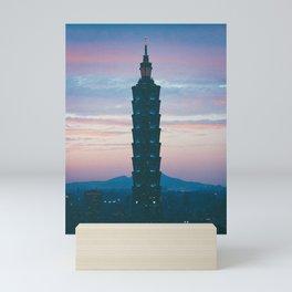 city sunset Mini Art Print