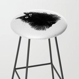 Duster - Black Cat Drawing Bar Stool