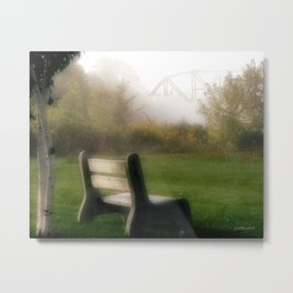 Waiting for The Fog to Lift Metal Print