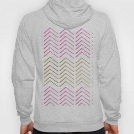 Pink faux gold watercolor tribal chevron pattern Hoody