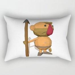 Caveman Low Poly Style Rectangular Pillow