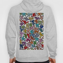 Homage to Keith Haring Color Hoody