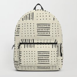 Mud Cloth in Cream Backpack