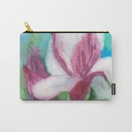 Magnolia flower watercolor art Carry-All Pouch