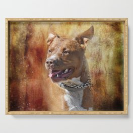 Bull Terrier Serving Tray