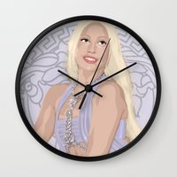 versace Wall Clocks featuring Versace Queen by AdamAether