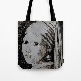 The girl with the pearl earring: a remake Tote Bag