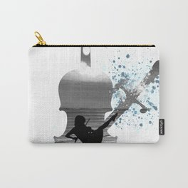 Let The Music Play - Black and White Carry-All Pouch