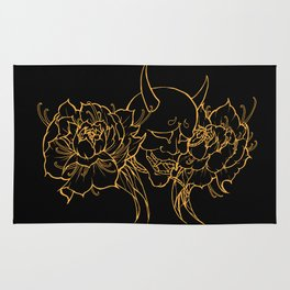 Hannya and Peonies Rug